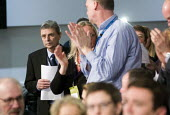 Dave Prentis Unison gets a standing ovation. Labour Party Special Conference on reform of its link to trade unions, ExCel Centre, London. - Jess Hurd - 01-03-2014