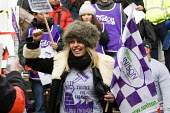 Unison cleaners at London School of Oriental and African Studies (Soas) 48-hour strike in a protest about discrimination. They are employed by outsourcing firm ISS, receiving less sick pay and fewer h... - Jess Hurd - 04-03-2014