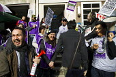 Unison cleaners at London School of Oriental and African Studies (Soas) 48-hour strike in a protest about discrimination. They are employed by outsourcing firm ISS, receiving less sick pay and fewer h... - Jess Hurd - 2010s,2014,access,activist,activists,at,BME black,CAMPAIGN,campaigner,campaigners,CAMPAIGNING,CAMPAIGNS,DEMONSTRATING,DEMONSTRATION,DEMONSTRATIONS,DISPUTE,DISPUTES,ethnic,ETHNICITY,Hispanic,Hispanics,