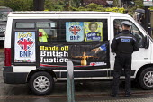 The BNP turn up at the UKIP European election campaign launch, saying that they have stolen their slogan. Sheffield. - Jess Hurd - 22-04-2014