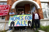 Homes For All! Protest against the eviction of a tenant after a council environmental health inspection deemed the room he was renting was too small for habitation. The tenant was not offered suitable... - Jess Hurd - 10-04-2014