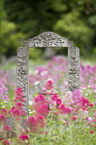 At Rest headstone. Gravestone in an East London cemetery. - Jess Hurd - 21-05-2014