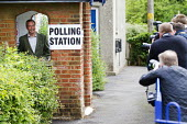 Nigel Farage, UKIP leader casts his European Election vote at his local Polling Station - Jess Hurd - ,2010s,2014,camera,camera cameras,cameras,campaign,campaigning,CAMPAIGNS,candidate candidates,democracy,election elections,EU,European Union,eurosceptic,Euroscepticism,eurosceptics,Husting,hustings,jo