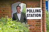 Nigel Farage, UKIP leader casts his European Election vote at his local Polling Station - Jess Hurd - 2010s,2014,campaign,campaigning,CAMPAIGNS,candidate,candidates,DEMOCRACY,election,elections,EU,European Union,eurosceptic,Euroscepticism,eurosceptics,Husting,hustings,leader,local,people,POL,political