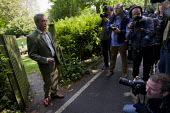 Nigel Farage, UKIP leader casts his European Election vote at his local Polling Station, Surrey. - Jess Hurd - ,2010s,2014,camera,cameras,campaign,campaigning,CAMPAIGNS,candidate,candidates,DEMOCRACY,election,elections,employee,employees,Employment,EU,European Union,eurosceptic,Euroscepticism,eurosceptics,Hust