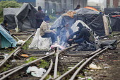 Refugees shelter in makeshift camps prior to an eviction planned by French authorities. Calais, France. - Jess Hurd - 27-05-2014
