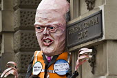 Magna Carta Day with Chris Grayling puppet. Save Justice, Save Legal Aid protest, The Old Bailey, London. - Jess Hurd - 16-06-2014