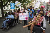 Disabled protesters. People Assembly demonstration against austerity and the Coalition Government. London. - Jess Hurd - 21-06-2014