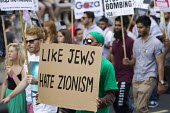 Thousands join a Stop The War march against the Israeli war on Gaza. London. - Jess Hurd - 26-07-2014