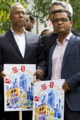 Tower Hamlets Mayor Lutfur Rahman and Deputy Mayor Oliur Rahman. Save Our Surgeries march against the closure of GP practices in East London. Tower Hamlets. - Jess Hurd - 2010s,2014,activist,activists,against,anti,asian,asians,Austerity Cuts,BAME,BAMEs,Black,BME,bmes,CAMPAIGN,campaigner,campaigners,CAMPAIGNING,CAMPAIGNS,CLOSED,closing,closure,closures,DEMONSTRATING,Dem