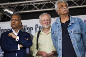 Lutfur Rahman, Tower Hamlets Mayor with Jeremy Corbyn MP and writer Tariq Ali. National Demonstration for Gaza. Hyde Park, London. - Jess Hurd - 2010s,2014,activist,activists,against,BAME,BAMEs,Black,BME,bmes,CAMPAIGN,campaigner,campaigners,CAMPAIGNING,CAMPAIGNS,DEMONSTRATING,Demonstration,DEMONSTRATIONS,diversity,ethnic,ethnicity,IMG,Labour P