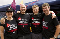 FBU with Owen Jones at Tolpuddle Martyrs Festival. Dorset. - Jess Hurd - 19-07-2014