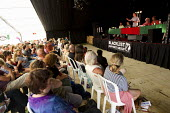 """Owen Jones discusses, """" The Establishment and How they Got Away with it. """"Tolpuddle Martyrs Festival. Dorset. - Jess Hurd - 19-07-2014"""