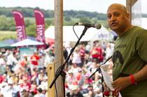 Mohammad Taj, TUC Pres, Unite. Tolpuddle Martyrs Festival. Dorset. - Jess Hurd - 19-07-2014