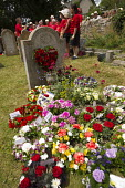 Flowers at the grave of James Hammett. Tolpuddle Martyrs Festival. Dorset. - Jess Hurd - 2010s,2014,ACE,cemeteries,cemetery,culture,festival,FESTIVALS,floral,flower,flowering,flowers,grave,graves,graveyard,Graveyards,member,member members,members,PEOPLE,SWTUC,Trade Union,Trade Union,trade