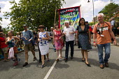 Frances O'Grady TUC, Dawn Primarolo MP, Kerry McCarthy MP and Emily Benn lead the Tolpuddle Martyrs Festival Procession. Dorset. - Jess Hurd - 2010s,2014,ACE,banner,banners,culture,Dawn,FEMALE,festival,FESTIVALS,member,member members,members,PEOPLE,person,persons,SWTUC,Tolpuddle Martyrs festival,Tolpuddle Martyrs' Festival,Trade Union,Trade