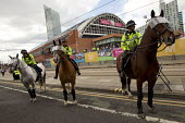 POlice cordon. Labour Party Conference, Manchester. - Jess Hurd - 21-09-2014