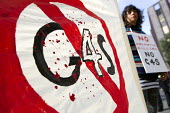 G4S protest outside Labour Party Conference, Manchester. Palestine Solidarity Campaign (PSC) protesting against G4S who provides security systems to Israeli prisons and detention centres where Palest... - Jess Hurd - 21-09-2014