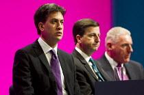 Ed Miliband, Douglas Alexander and Vernon Coaker MP - Defence Team. Labour Party Conference, Manchester. - Jess Hurd - ,2010s,2014,Conference,conferences,Defence,defense,Labour Party,Party,pol,political,POLITICIAN,POLITICIANS,politics