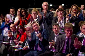 Ed Balls MP and a standing ovation for Dave Prentis Unison. Labour Party Conference, Manchester. - Jess Hurd - ,2010s,2014,applauding,applause,Balls,Conference,conferences,Labour Party,member,member members,members,Party,people,pol,political,POLITICIAN,POLITICIANS,politics,Trade Union,Trade Union,trade unions,