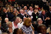 Standing ovation for Dave Ward, CWU. Labour Party Conference, Manchester. - Jess Hurd - 22-09-2014