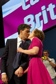 Ed Miliband MP and Justine Thornton, leaders speech. Labour Party Conference, Manchester. - Jess Hurd - 23-09-2014