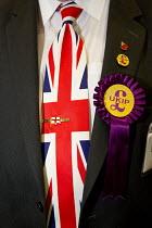 Union Jack tie, UKIP Annual Conference, Doncaster. - Jess Hurd - ,2010s,2014,brand,branding,Conference,conferences,delegate,delegates,eurosceptic,Euroscepticism,eurosceptics,flag,flags,nationalism,nationalist,nationalists,pol,political,POLITICIAN,POLITICIANS,politi