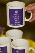 Keep Calm UKIP are Coming Mugs. UKIP Annual Conference, Doncaster. - Jess Hurd - 2010s,2014,brand,branding,Conference,conferences,eurosceptic,Euroscepticism,eurosceptics,mug,mugs,nationalism,nationalist,nationalists,pol,political,POLITICIAN,POLITICIANS,politics,UK Inderpence Party