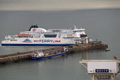 MyFerryLink ro ro ferry arriving at the Eastern Docks. Port of Dover, Kent. - Jess Hurd - 2010s,2014,ARRIVAL,arrivals,arrive,arrived,arrives,arriving,boat,boats,cargo,Cross Channel Ferry,disembark,disembarkation,disembarking,dock,docks,dockside,DRIVER,DRIVERS,driving,EBF,Economic,Economy,f