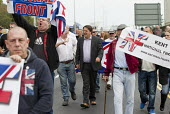 Nick Griffin, BNP joins with NF members and Far right groups as they gather at the Port of Dover in a protest against immigration and in support of truck drivers. Kent. - Jess Hurd - 2010s,2014,activist,activists,against,Alliance,bigotry,BNP,British National Party,CAMPAIGN,campaigner,campaigners,CAMPAIGNING,CAMPAIGNS,DEMONSTRATING,Demonstration,DEMONSTRATIONS,DISCRIMINATION,East,E