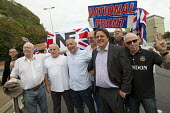 Nick Griffin, BNP joins with NF members and Far right groups as they gather at the Port of Dover in a protest against immigration and in support of truck drivers. Kent. - Jess Hurd - 27-09-2014