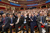 Delegates raise hands to the question, if they are law abiding citizens. Conservative Party Conference, The ICC Birmingham - Jess Hurd - 30-09-2014