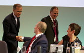 John Hannett, USDAW shakes hands with Mark Carney, the Governor of the Bank of England. TUC, Liverpool. - Jess Hurd - 09-09-2014