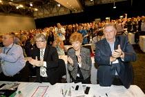 GMB delegates, standing ovation for Frances O'Grady TUC Gen Sec, Liverpool - Jess Hurd - 08-09-2014