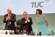 standing ovation for Frances O'Grady TUC Gen Sec, Liverpool - Jess Hurd - 08-09-2014