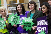 Frances O'Grady TUC Gen Sec joins NHS public service workers picket in a dispute over pay. St Pancras Hospital, Kings Cross, London. - Jess Hurd - 2010s,2014,BAME,BAMEs,black,bme,BME black,bmes,campaign,CAMPAIGNING,CAMPAIGNS,care,cultural,dispute,DISPUTES,diversity,EARNINGS,EQUALITY,ethnic,ethnicity,Fair,fair pay,health,HEALTH SERVICES,healthcar