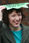 Frances O'Grady TUC Gen Sec joins NHS public service workers picket in a dispute over pay. St Pancras Hospital, Kings Cross, London. - Jess Hurd - 2010s,2014,campaign,CAMPAIGNING,CAMPAIGNS,care,dispute,DISPUTES,EARNINGS,EQUALITY,Fair,fair pay,health,HEALTH SERVICES,healthcare,Hospital,HOSPITALS,Income,INCOMES,INDUSTRIAL DISPUTE,industrial relati