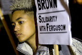 Solidarity with Ferguson - Justice for Michael Brown. Protest began at the US Embassy and ended at Scotland Yard. London. - Jess Hurd - 26-11-2014