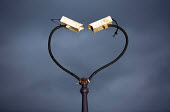 CCTV cameras twisted to form a heart shape. East London - Jess Hurd - 11-11-2014