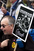 Mike McColgan Solicitor and John Booth, Orgreave Truth and Justice Campaign protest at the office of the Independent Police Complaints Commission. Campaigners are angry with delays to the investigatio... - Jess Hurd - 14-11-2014