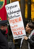 Orgreave Truth and Justice Campaign protest at the office of the Independent Police Complaints Commission. Campaigners are angry with delays to the investigation into allegations of violent policing a... - Jess Hurd - ,2010s,2014,activist,activists,adult,adults,CAMPAIGN,campaigner,Campaigners,CAMPAIGNING,CAMPAIGNS,communities,Community,DEMONSTRATING,Demonstration,DEMONSTRATIONS,disputes,INDUSTRIAL DISPUTE,IPCC,MATU