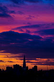Sunset over London and The Shard on the eve of Winter Solstice. - Jess Hurd - 2010s,2014,architecture,at,blocks,building,buildings,cities,city,cityscape,cityscapes,CLIMATE,cloud,clouds,conditions,council estate,council services,council estate,council services,dark,day,Deprivati