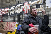 Love Activist protesters put on a food bank offering hot food to the homeless opposite RBS Bank where they were evicted by Westminster Council. London. - Jess Hurd - 30-12-2014