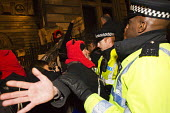 Love Activist protesters defend a soup kitchen offering hot food to the homeless opposite RBS Bank where they were evicted by Westminster Council. London. - Jess Hurd - 30-12-2014