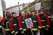 West Midlands firefighters lobby MP's ahead of House of Commons pensions debate. Westminster, London. - Jess Hurd - 15-12-2014