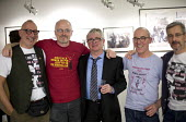 Still The Enemy Within, miners strike exhibition, Rich Mix, London 2014. The founders of LGSM Lesbian and Gays Support The Miners Jonathan Blake, Ray Goodspeed, Nobby Lawton (Nottinghamshire striking... - Jess Hurd - 05-12-2014
