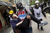 Turkish police surround Taksim Square to prevent May day marches. Istanbul, Turkey. - Jess Hurd - 01-05-2014
