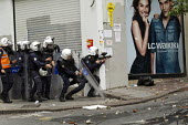 Turkish police surrounding Taksim Square to prevent May day marches. Istanbul, Turkey - Jess Hurd - 01-05-2014