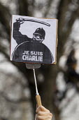 Je suis Charlie Hebdo unity march after the shooting of cartoonists in the attack on the Charlie Hebdo magazine offices, Paris. - Jess Hurd - 11-01-2015
