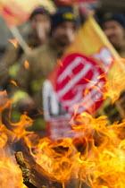Striking firefighters picket. London - Jess Hurd - 25-02-2015